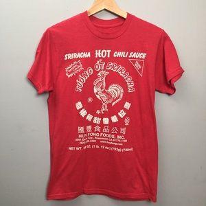 Sriracha Label T-shirt Red Size Small